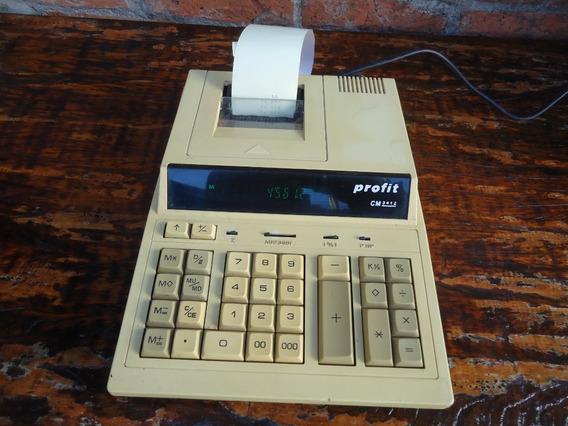 Antiga Calculadora Profit Cm-3412 Bobina Funcionando Bivolt