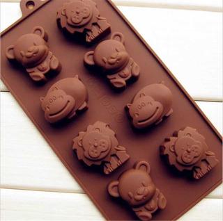 Molde De Silicona , Animales , Para Chocolate O Jabón Kawaii