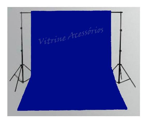 Tecido 3x3 Azul +suporte Fundo Infinito Estúdio Fotográfico