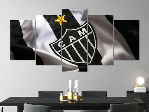 Quadro Decorativo 129x63 Quarto Time Galo Atletico Mineiro Mercado Livre