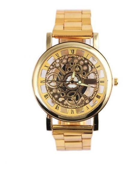 Relógio De Pulso Masculino Mecânico De Quartzo Top De Luxo