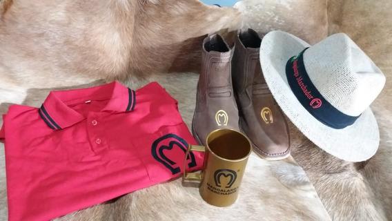 Kit Mangalarga Botina Camisa Chapéu Copo