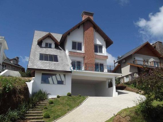 Casa Com 4 Dormitórios À Venda, 302 M² Por R$ 3.200.000,00 - Mato Queimado - Gramado/rs - Ca0494