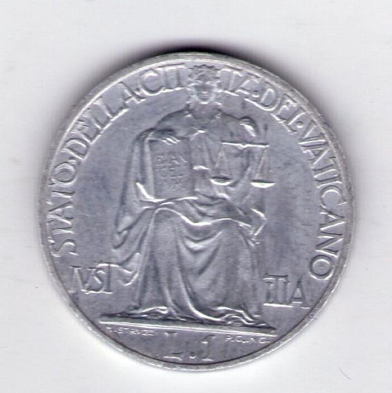 Vaticano 1 Lira Año 1948 Papa Pio Xii Sin Circular Escasa
