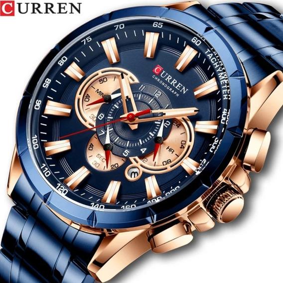 Relógio Masculino Cronógrafo Original Curren Lançamento 2020