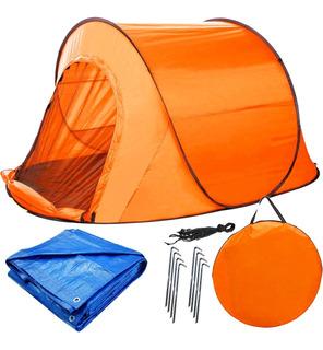 Carpa Autoarmable Camping 245x145 C/mosquitero + Lona El Rey