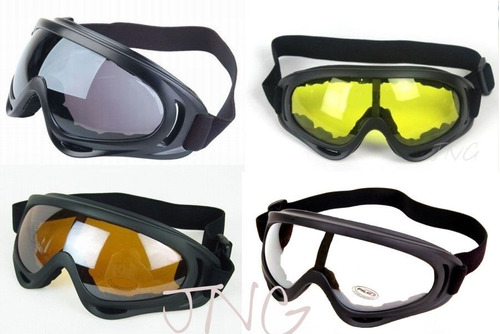 [4 Gafas] Multi Uso Motos Ski Snowboard Airsoft Gafas Antide