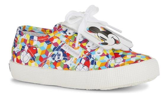 Zapatillas Nena Superga Mickey Importadas Lona