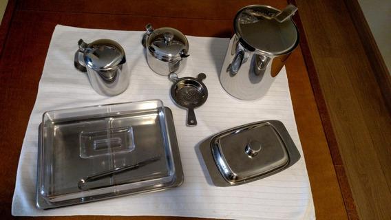 Conjunto De Utensílios De Cozinha Em Inox (6 Peças)