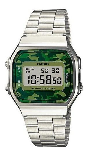 Relógio Casio Unissex Vintage Militar A168wec-3df Original