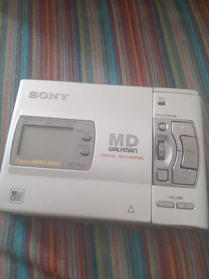 Minidisc WalkmanMz R50 Com Todos Os Acessorios