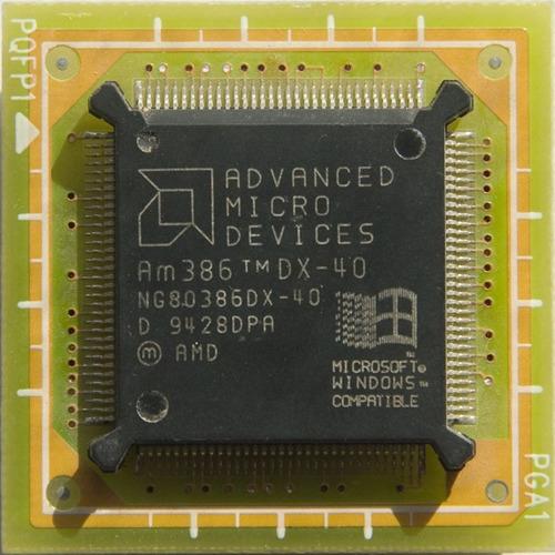 Microprocesador Retro Vintage 386 Amd Dx-40 Mhz Funca