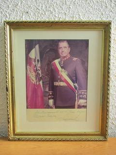 Foto Oficial Firmada Presidente Augusto Pinochet Año 86