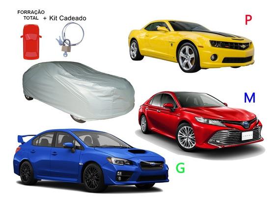 Capa Para Carro Forrada Cadeado Carrhel P M G 100% Impermeáv