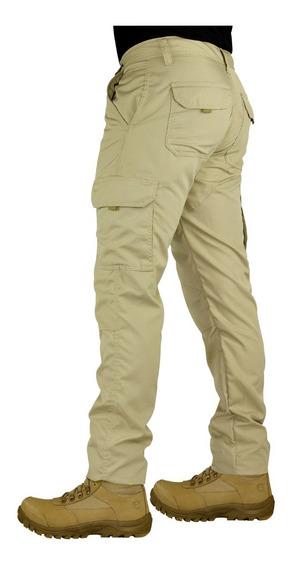Calça Tatica Militar Cargo Masculina Poly 6 Bolsos Reforçada