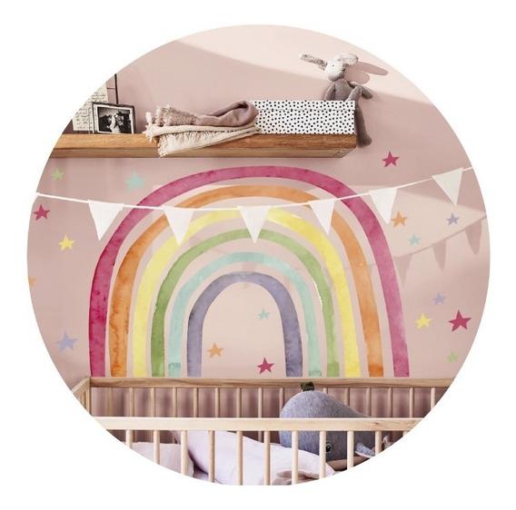 Vinilos Decorativos Infantil Arco Iris Arcoiris Pastel