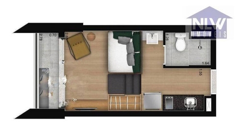 Studio Com 1 Dormitório À Venda, 20 M² Por R$ 282.100,00 - Santo Amaro - São Paulo/sp - St0164