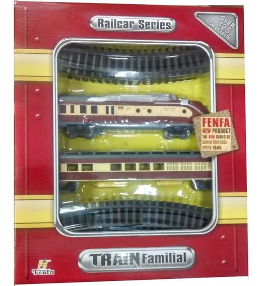 Locomotora Tren Fenfa 2 Pilas 2 Vagones Familiar