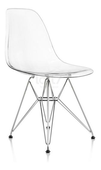 Cadeira Acrilica Eames Eiffel Dkr Transparente Incolor