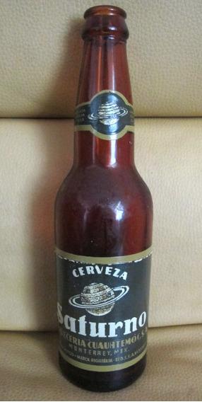 Colección Antigua Envase Vacío Cerveza Saturno Cuauhtemoc