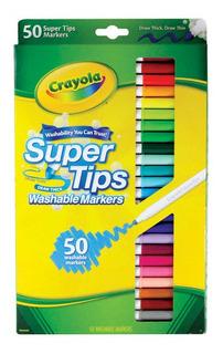 Crayola Super Tips Marcadores 50 Pz Importados Lavable