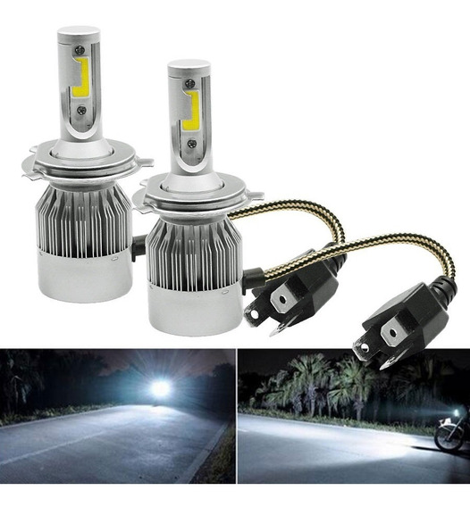Super Led C6 H4 72w 7200 Lumens Super Branco Xenon + Barato
