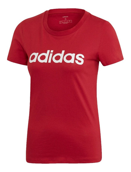 adidas Remera Running Mujer E Lin Slim T Rojo