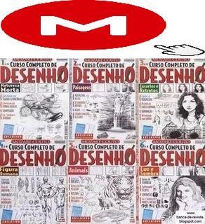 Curso De Desenho 6 Revistas Completas+33 Brindes No Mega