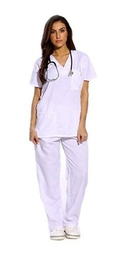 Just Lo Conjunto De Uniforme Enfermera Hospital Color Blanco