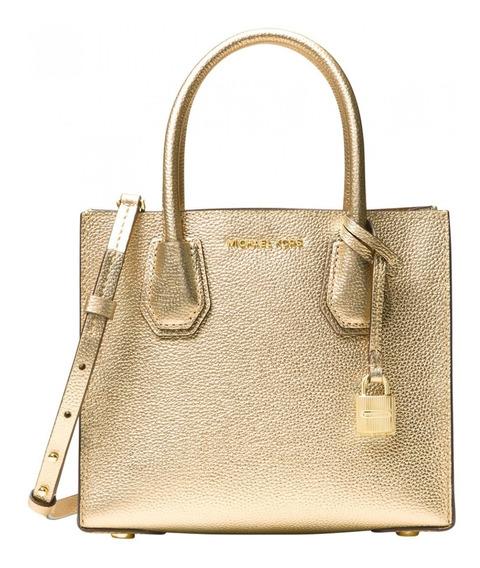 Bolsa Michael Kors Mercer Studio Leather Pale Gold