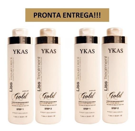 Ykas Gold Liss Treatment Escova Progressiva 2 Kits+ Brinde!