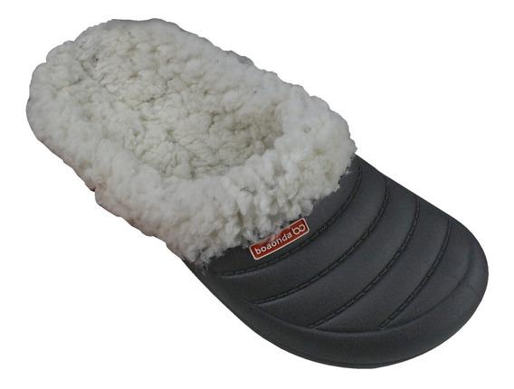 Chinelo Lã Snow Babucha Pantufa Boa Onda Com Pelo Conforto
