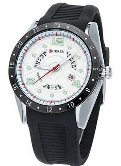 Relógio Curren Analógico 8142 Preto E Prata