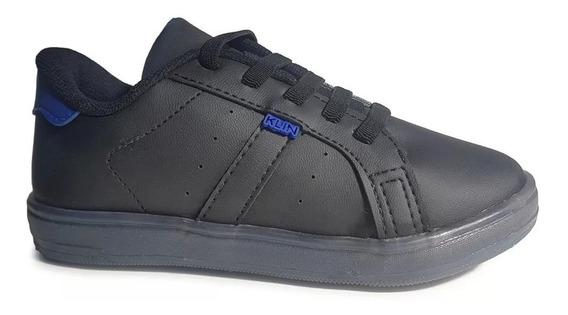 Zapatillas Niño Con Luces Led Klin Negro. Tip Calzados