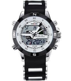 Relógio Masculino Weide Wh1104-9c Aço Inox+caixa Promoção