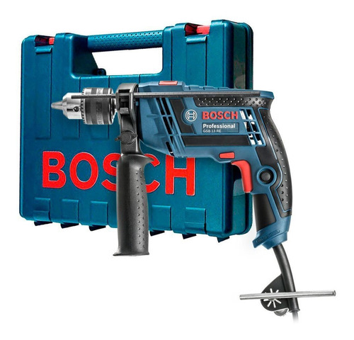 Imagen 1 de 6 de Taladro Percutor Bosch 650w 13mm Rev Gsb13re C/maletin Ynter