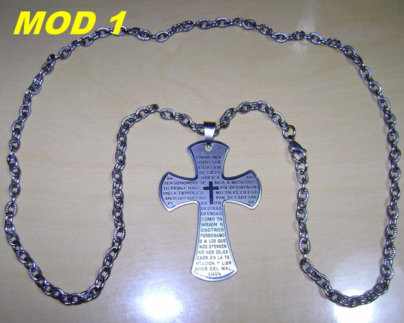 Corrente E Crucifixo Em Aço Inox 316l - Alta Qualidade