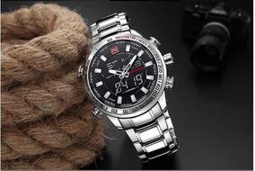 Relógio Naviforce 9093 Prata Envio Em 24h
