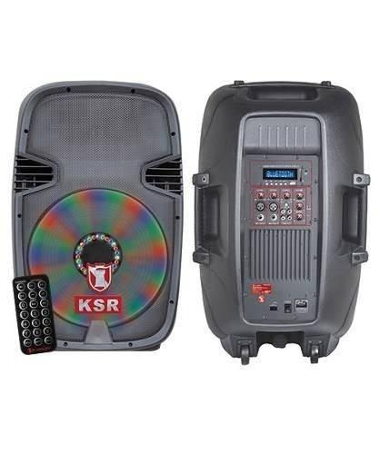 Kaiser Bafle Amplificado 15 Profesional Bluetooth Luces Led