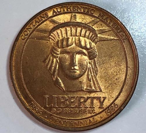 Ficha Antigua Coleccionable Estatua De La Libertad 1986 Jmg