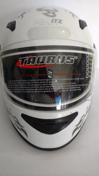 Capacete Zarref Taurus Branco Femme 58 - Modelo V3
