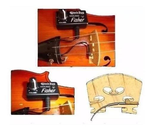 Kit Captador Com Volume Para Violino E Viola Bbf Black Bug
