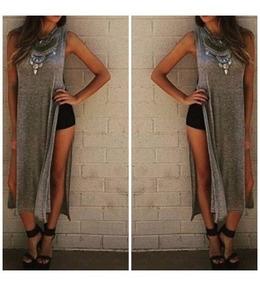 Roupas Femininas Blusa Vestido Maxi Fenda Importado 2701