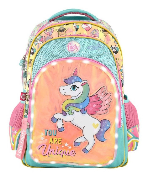 Mochila Espalda Unicornio 18p Luz Led Foo F1303 U Are Unique