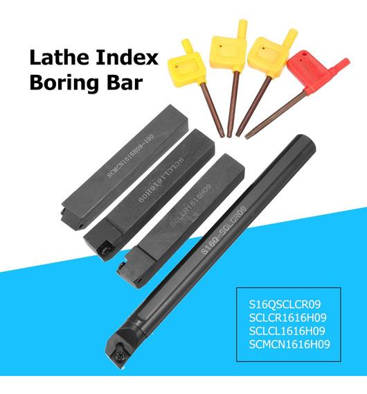 4 Pcs 16mm Boring Bar +4 Pcs Ferramenta De Torneamento Chave