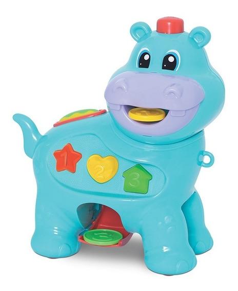 Brinquedo Educativo Bebê Amiguinho Comilão Hipopótamo