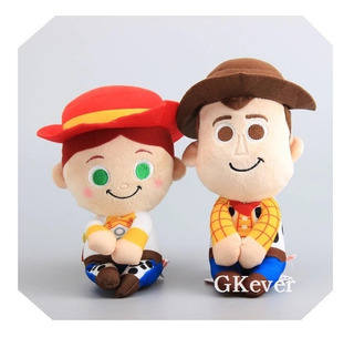 Pack 2 Peluches Vaqueros Toy Story Woody Y Jessy 20cm