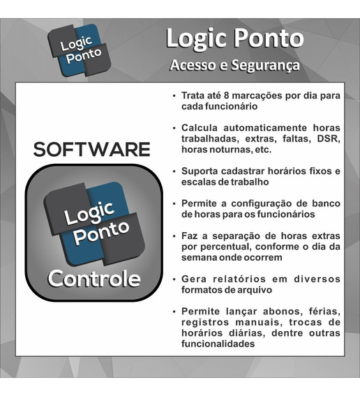Software Logic Ponto Controle - 1 Cnpj