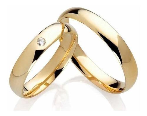 Aliança Tradicional Banhada A Ouro (10, 16)
