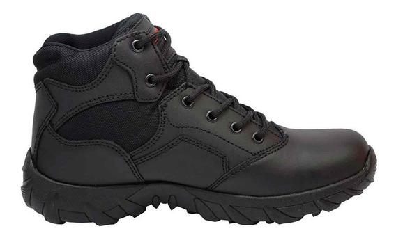 Zapatos Hombre Piel Estilo Bota Negro 25-1503 Duty Gear